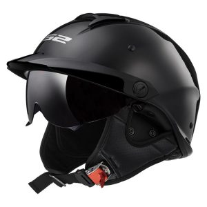 Mũ bảo hiểm nửa đầu LS2 REBELLION OF590 MATT BLACK
